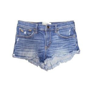 Girls Abercrombie Medium Wash Jean Shorts